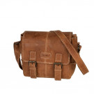 Dorr Kapstadt Leather Photo Bag Small Cognac