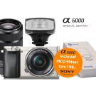 Sony Alpha A6000 (ILCE6000YS) Zilver Special Edition + 16-50mm + 55-210mm  + MCO320