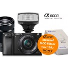 Sony Alpha A6000 (ILCE6000YB) Special Edition + 16-50mm + 55-210mm zwart + MCO320