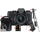 Fujifilm X-T100 Dark Zilver / XC15-45mm + Premium Kit