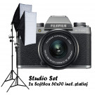 Fujifilm X-T100 Dark Zilver / XC15-45mm + Studio Set Softbox 50x70
