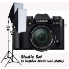 Fujifilm X-T20 zwart + XF 18-55mm F2.8-4 R LM OIS + Studio Set Softbox 50x70