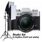 Fujifilm X-T20 zilver + XF 18-55mm F2.8-4 R LM OIS + Studio Set Softbox 50x70