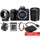 Nikon Z6 +  Z 24-70MM F/4.0 S + FTZ Mount Adapter + premium kit