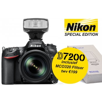 Nikon D7200 Special Edition: + 18-105mm VR + MCO320 opzetflitser