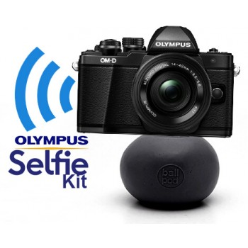 Olympus OM-D E-M10 Mark II zwart Selfie Kit: + M.ZUIKO DIGITAL ED 14‑150mm 1:4.0‑5.6 + BallPod